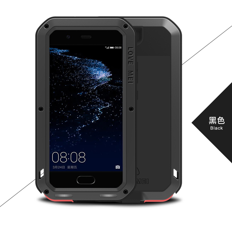 Image 3 - Love Mei Metal Aluminum Phone cover for huawei P10 Phone case 2017 waterproof Shockproof armor rugged Gorilla Glass phone cases-in Fitted Cases from Cellphones & Telecommunications