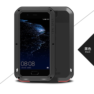 Image 3 - Love Mei Metal Aluminum Phone cover for huawei P10 Phone case 2017 waterproof Shockproof armor rugged Gorilla Glass phone cases