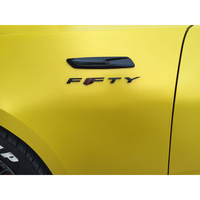 QHCP Car Styling ABS Mark Logo 50 Years FFTY Emblem Decal Badge Sticker Exterior Decoration for Chevrolet Camaro