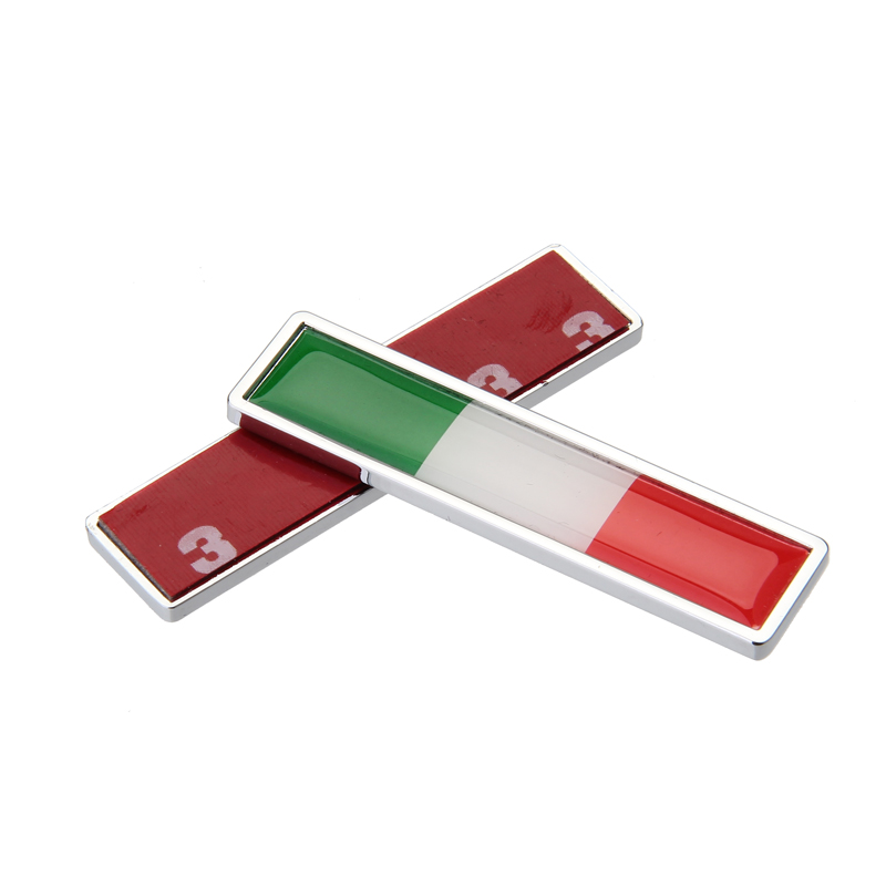 1 Pair Door Protector Anti-Collision Italy Flag Logo 3D Car Sticker Car-Styling Creative Automobile Accessories 1 pair door protector anti collision canada flag emblem 3d car stickers creative car styling automobile accessories