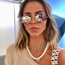 MYT_0129 Frameless Polygonal Sunglasses For men and women Street Style sunglasses ultra-light punk glasses Shades UV400