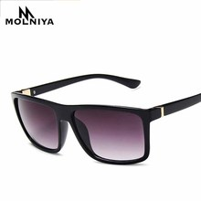 MOLNIYA Men Retro Square Sunglasses Women Classic Leopard Big Frame Sun Glasses Photochromism Eyeglasses UV400
