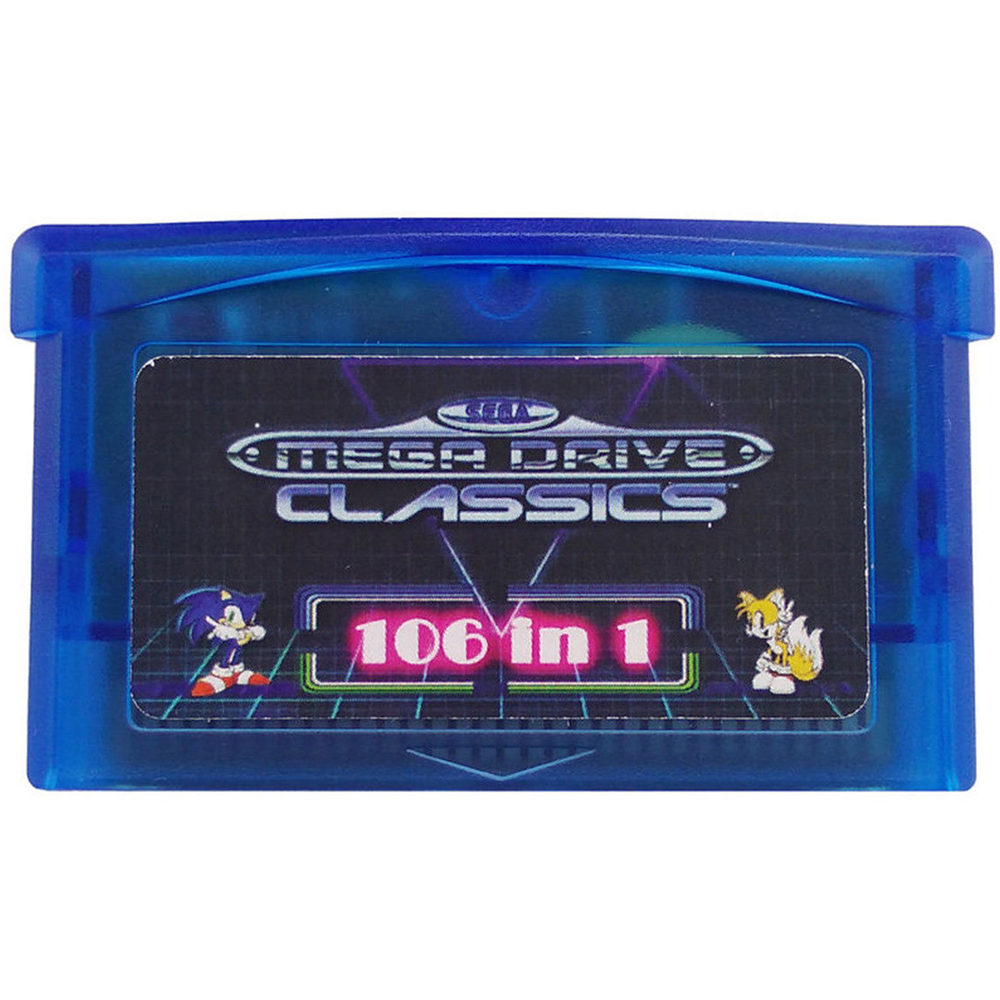 GBA SMS 106 in 1 game card boxed mega drive for Sega Master System for Nintendo Advance SP NDS Multicart image