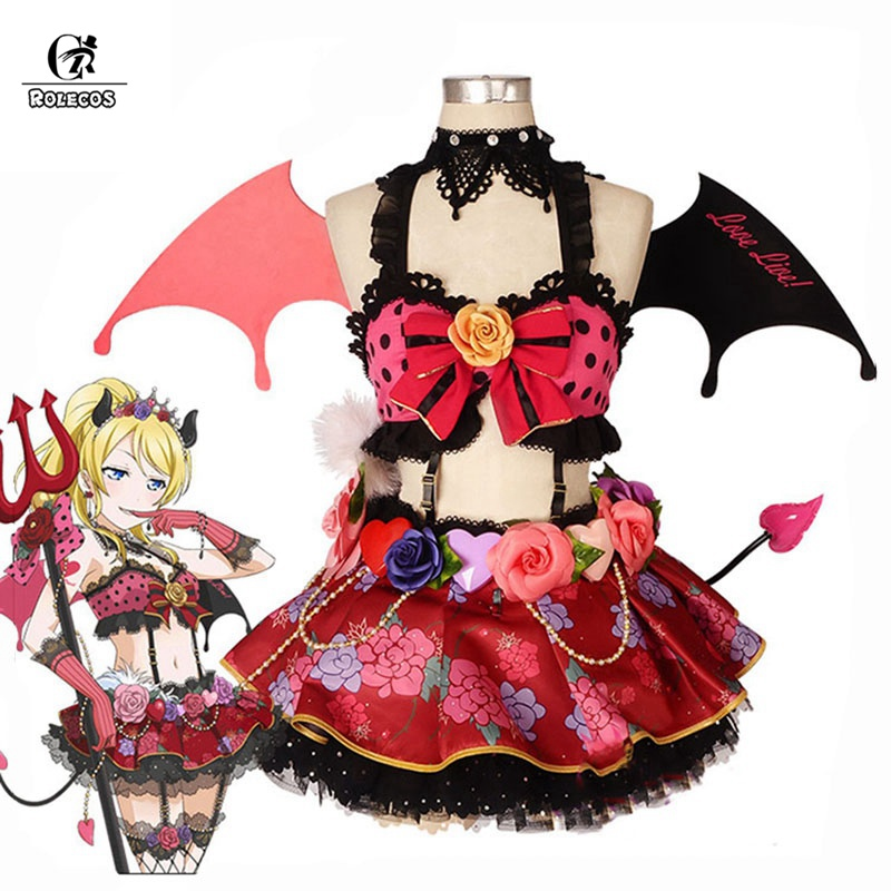 ROLECOS Lovelive Cosplay Costume Little Devil Love Live Cosplay All Characters Costume Kotori Honka Umi Nico