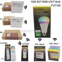 MiLight E27 12W RGB CCT LED Bulb Spotlight FUT105 110V 220V Full Color Remote Control Smart