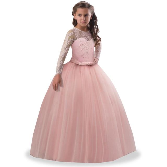 Gadis Gaun Bordir Bunga Gaun Pesta Pernikahan Gadis Kontes Formal
