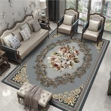 Винтажные классические ковры геометрической формы для гостиной, дома, спальни, персидский ковер, коврики для журнального столика, тонкие коврики