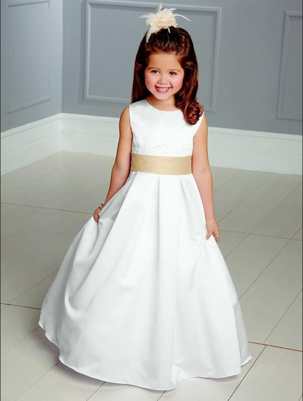 Custom Made 2015 White Girls Pageant Dresses Designer Flower Girl Gowns Vestido De Festa Infantil Vestidos Daminhas Honra - Weddings & Events Collection store