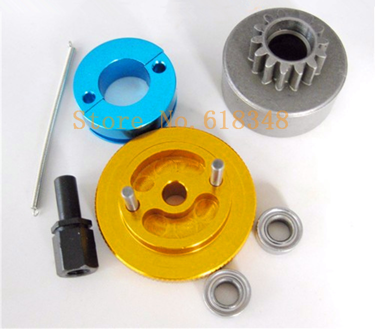 1 set Flywheel Clutchbell 14T 10093 Tooth Clutch Bell with Ball Bearings 10 5 4mm for