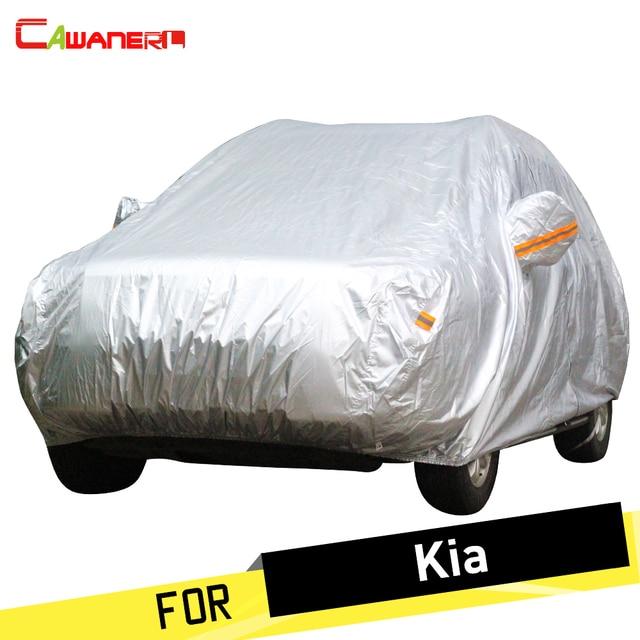 Cawanerl Car Cover Anti UV Rain Sun Snow Resistant Dust Proof Cover Sunshade For Kia Forte Carnival K2 K3 K3S K4 K5 KX3 KX5 Rio