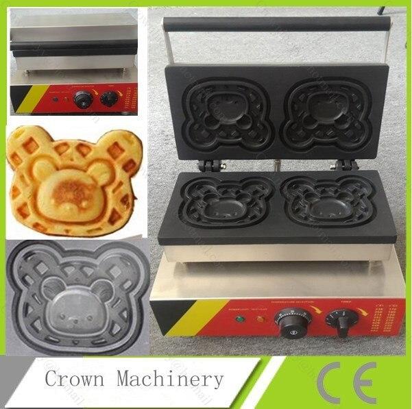 Commercial Electric Bear Waffle Baker Maker Machine