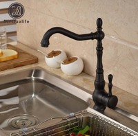 Deck Mount Countertop Bathroom Kitchen Faucet Single Handle Tall Basin Sink Mixer Taps Oil Rubbed Bronze