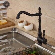 Двухслойные крепление столешницы для ванной кухонный кран Одной ручкой Tall умывальник, смесители масло-втирают Бронза