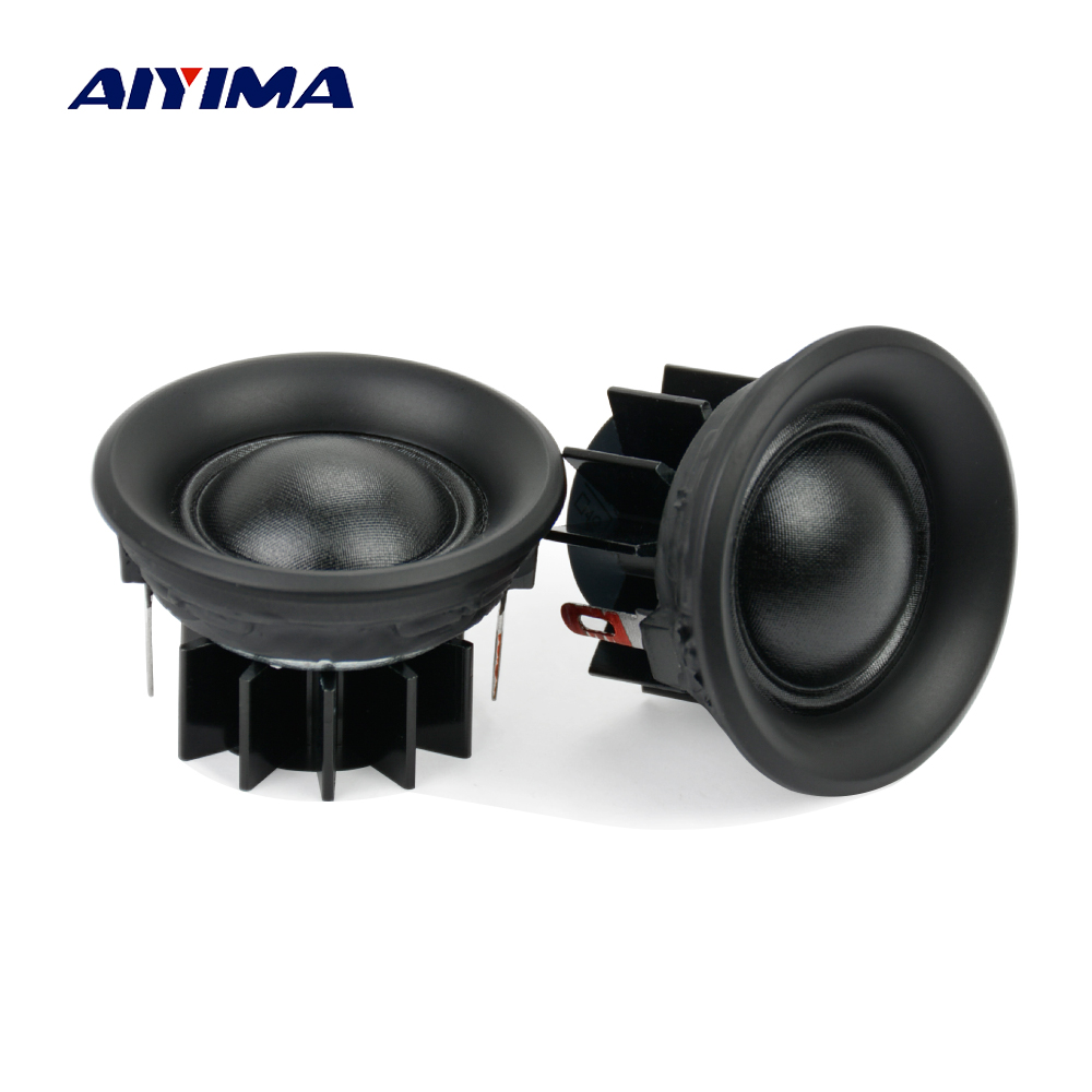 Aiyima 2Pcs 10W 1.5Inch Tweeters Loudspeakers Treble Mini Portable Silk Film Speakers 4 Ohm 6 Ohm 8Ohm 40MM