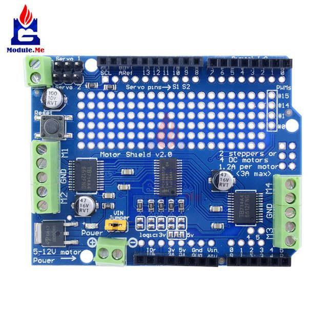 TB6612 Mosfet Stepper Motor PCA9685 PWM Servo Driver Shield Board For Arduino Speed Control Uno Leonardo