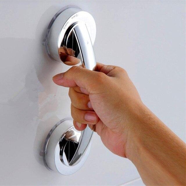 Prysznic uchwyt oferuje bezpieczny uchwyt z mocną przyssawką do bezpiecznego chwytania w wanna toaleta poręczy do kąpieli 1 PC q3