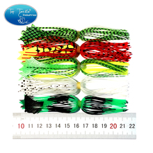 Купить с кэшбэком Free Shipping DIY 5 Bundles/lot High Quality Silicone Rubber Skirt For Frogs Spinner Perch Wobbler Bass Fishing Lure Bait