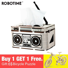 Robotime New Arrival Creative 5 Kinds DIY 3D Storage Model Building Kits Toy Gift for Child Adult TG11-15