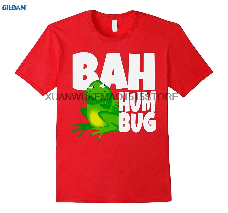 GILDAN 100% cotton O-neck printed T-shirt Bah Humbug Grumpy Frog Christmas Tshirt ...