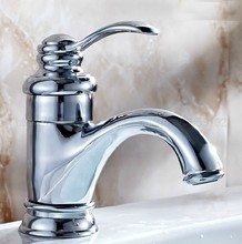 Bathroom Basin Sink Faucet Chrome Single Handle Kitchen Tap Faucet Mixer hot and cold water tap znf058
