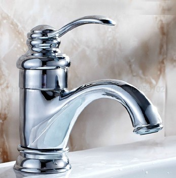 Bathroom Basin Sink Faucet Chrome Single Handle Kitchen Tap Faucet Mixer hot and cold water tap znf058 kitchen faucet mixers wall mounted single handle mixer tap sink faucet rotation hot cold water mixer mop pool tap basin faucet