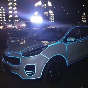 Image 5 - Светоотражающая лента LUDUO 5 см x 3 м, автомобильные наклейки, клейкая предупреждающая светящаяся темная Ночная лента, аксессуары для мотоциклетной пленки