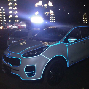 Image 5 - LuDuo 5 cm x 3 m רעיוני רצועות קלטת רכב מדבקות סימן בטיחות אזהרת דבק זוהר כהה לילה קלטת אופנוע סרט אביזרים