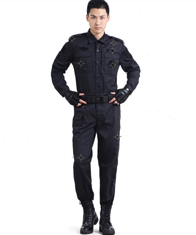 Black Military Camouflage Uniform Spring Equipo Militar Security