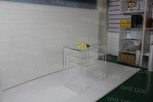(3PCS/LOT) ONE LUX Contemporary versatile Lucite Acrylic Nesting Coffee Tables Set Of Three(China)