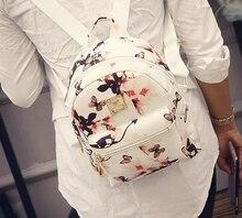 Ecoparty женский для подростков девочек женские рюкзак модные повседневные с цветочным принтом Рюкзаки Мода кожаный рюкзак