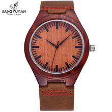 Natural Wooden Watch Women Fashion Genuine Leather Strap Wood Bezel Analog Quartz Antique Ladies Watches reloj mujer relogio