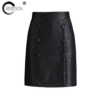 ORDEESON M 4XL Micro Mini Skirts Zipper Black Skirt Spring 2018 Sexy Skirts Wrap Rave Korean Style Plus Size Women Lace Fashion