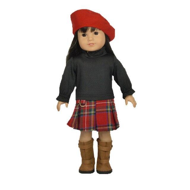 Мода 18 дюймов американская девушка одежда для кукол аксессуары для подарок ребенку HJ98