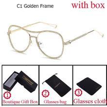 2018 new Luxury Brand Decorative Rhinestone flat Reading glasses Computer Europe