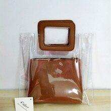 Caker large big Women PVC Handbag Fashion High Quality Transparent Summer Beach Bags Wholesale Drop shipping