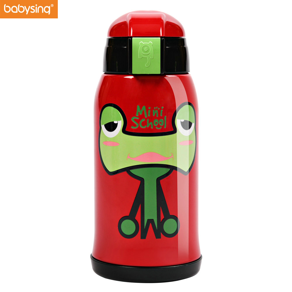 Babysing Baby Cup Thermos Baby Feeding Cup Stainless Steel Thermos Bottle Kids Insulation Cup Portable huge Capacity Cartoon Mug