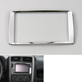 Car-Styling Dashboard Console GPS Navigation Frame Cover Trim Interior Chrome ABS Decor Car Accessories For 2007-15 Suzuki Jimny image