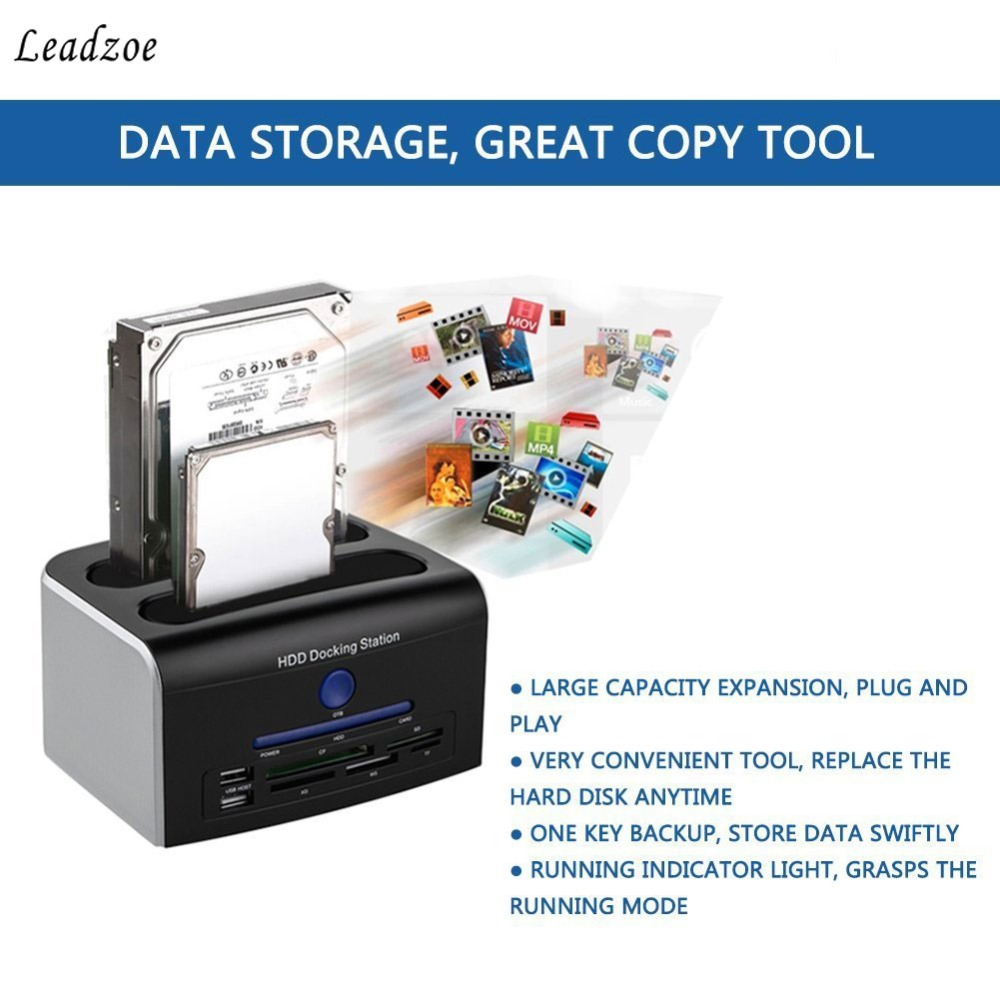 Leadzoe USB 2.0 multi-fonction 2.5