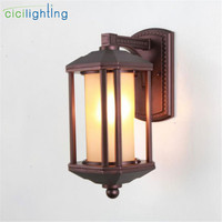 Antique Outdoor Lamp Garden Lights Waterproof Lighting Outdoor Wall Light Home Garden Corridor decor wall Lights Waterproof lamp