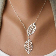 x348 New Arrival Exquisite Gold-color Pendant Necklace For Women Fashion Hollow Leaf Chain Necklace Elegant Lady Jewelry Hot(China)