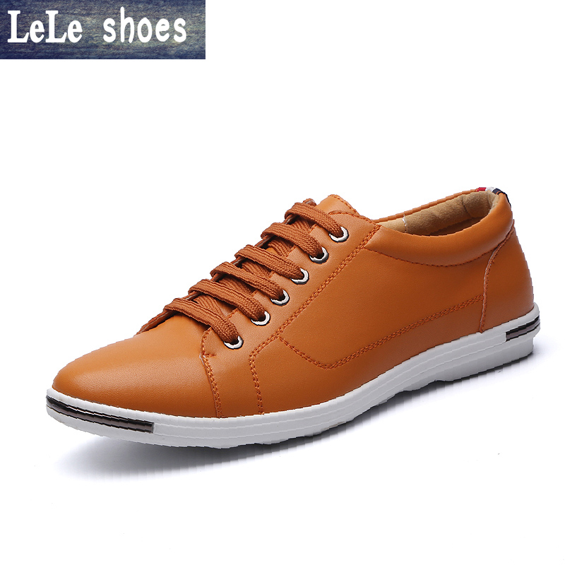 2016 New Fashion Big Size 37-48 Summer Men Casual Shoes High Quality Genuine Leather British Style Men Flats Students Hot Sale 2016 new fashion genuine leather men casual oxford shoes zapatillas hombre hot sale good quality comfortable male shoes
