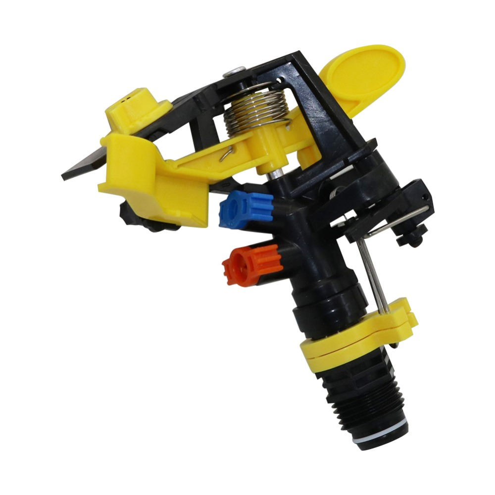 """HTB1wUhGXL1H3KVjSZFHq6zKppXar 1 Pc Double outlet Rocker nozzle 360 degrees rotary jet nozzle Agricultural garden Irrigation Sprinklers with 1/2"""" male thread"""