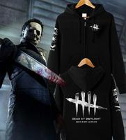 Men Women Game Dead by Daylight Hoodie Zipper Jacket Coat Casual Cosplay Costume Halloween Stage Gift Drop Ship