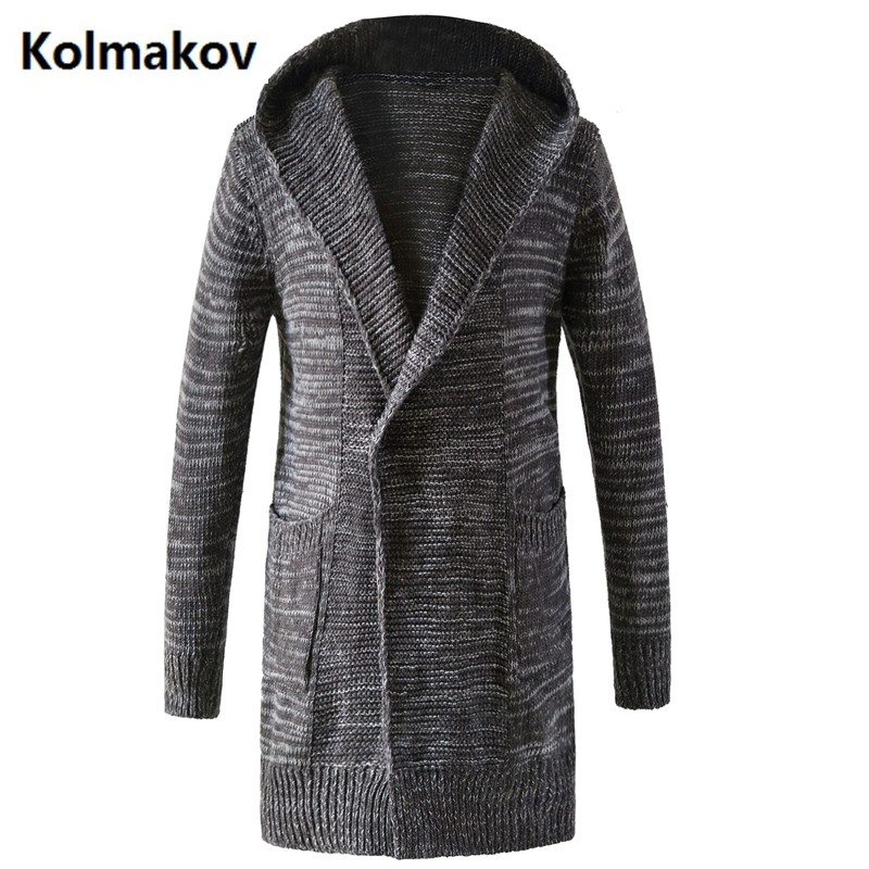 GUI XIANG 2017 New style winter Mens leisure fashion Knitted trench coat Mens jackets Casual Coat Mens Windbreaker