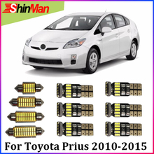 ShinMan 8X Error Free Car Light Interior Light LED Conversion Kit Package Free shipping For Toyota Prius 2005-2015 Accessorie
