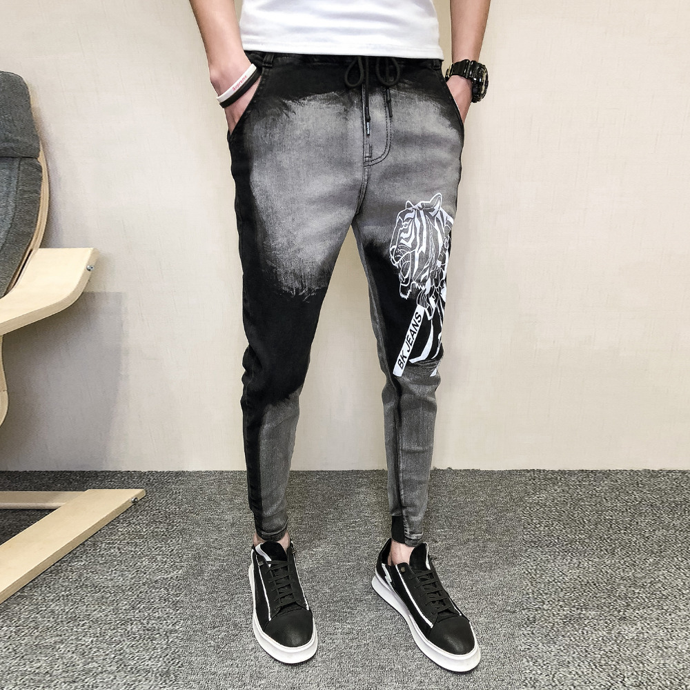 Brand New Men Jeans Fashion 2019 Spring Denim Pants Men Streetwear All Match Mens Jeans Slim Fit Casual Trousers Men Hip Hop Distinctive For Its Traditional Properties