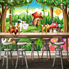 Custom 3D Photo Wallpaper Children Room Bedroom Cartoon Forest House Background Decoration Painting Wall Mural Papel De Parede 2