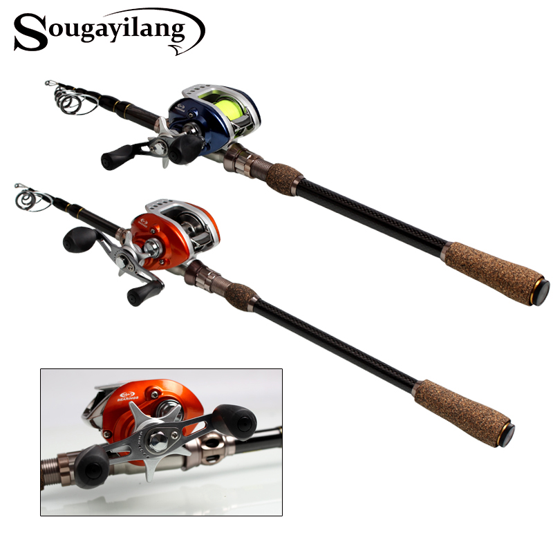 Sougayilang Baitcasting Fishing Rod Combos 1.8-2.7M Fishing Rod Pole with Left/Right Hand Baitcasting Fishing Reel Set De Pesca nunatak original 2017 baitcasting fishing reel t3 mx 1016sh 5 0kg 6 1bb 7 1 1 right hand casting fishing reels saltwater wheel