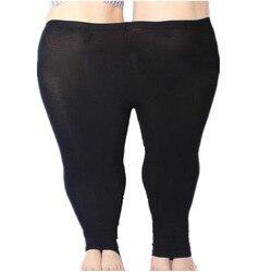 Coloré Modal gros Leggings femmes été pantalon grande taille Jeans Leggings couleur bonbon Leggings grandes femmes pantalon moulante pantalon 5XL