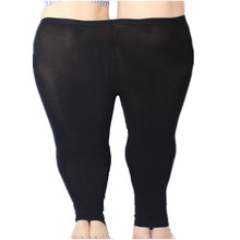 Mallas coloridas de Modal para mujer, pantalones vaqueros de talla grande, mallas de Color caramelo, pantalones Bodycon, 5XL